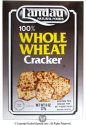 Landau Kosher 100% Whole Wheat Craker 8 Oz