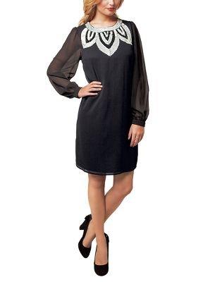 Oli Womens Dress-Oli Iridescent Sequin Embellished Chiffon Tunic