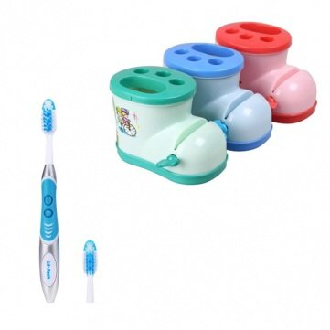 Electric Toothbrushes And Toothbrush Holder With Toothpaste Squeezer