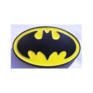 Yellow Black Batman Logo Belt Buckle