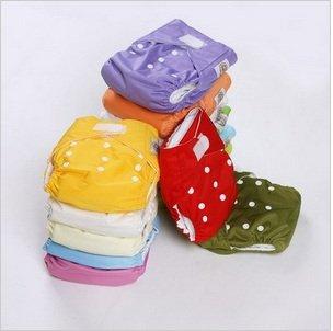 Random Color 20Pcs/Pack Velcro Design U Pick Up Color One Size Adjustable Reusable Washable Baby Cloth Diaper Nappy Skbb_054