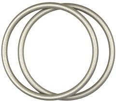 Buy Best Baby Original Sling Rings, Aluminum and Nylon Rings for Making Ring Slings (Medium, Silver)