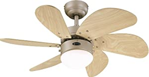 Westinghouse Turbo Swirl 76 cm/ 30-inches Ceiling Fans, Titanium-Light Maple by Westinghouse