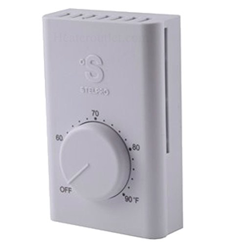 Line Voltage Thermostat, Electric Heaters Only. Stelpro Swt2F, Double Pole (4 Wire) A Simple To Use Thermostat For Most Electric Heaters. Temperature Range Of 50 To 90°F, Can Control Up To 22 Amps