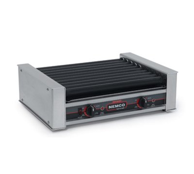 Nemco 8027Sx 27 Hot Dog Roller Grill - Flat Top, 120V, Each