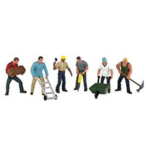 Amazon.com: Bachmann Trains Construction Workers: Toys & Games