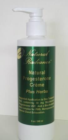 Progesterone Plus Herbs (Bioidentical) Paraben-Free Creme - Fragrance Free/Unscented 8 oz. Pump Bottle