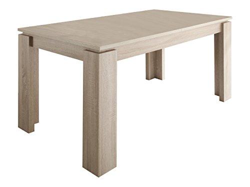 trendteam-ET16245-Esstisch-Wohnzimmertisch-Tisch-Eiche-sgerau-hell-Nachbildung-ausziehbar-LxBxH-160-200-x-77-x-90-cm