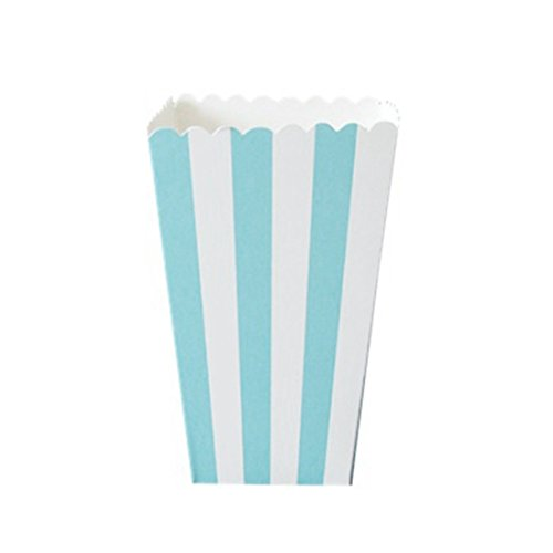 12pcs Striped Popcorn Boxes Bags Kids Party Treat Boxes Wedding Birthday Decorations (Popcorn Bags Blue compare prices)