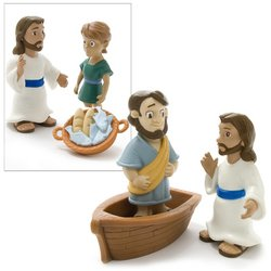 Jesus Feeds the Five Thousand, Jesus Walks on Water Figures with Playmat - Buy Jesus Feeds the Five Thousand, Jesus Walks on Water Figures with Playmat - Purchase Jesus Feeds the Five Thousand, Jesus Walks on Water Figures with Playmat (One 2 Believe, Toys & Games,Categories)