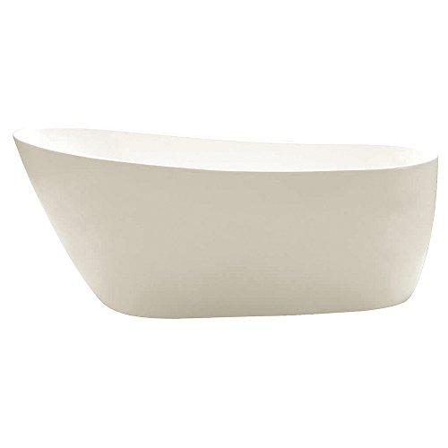 KINGSTON BRASS VTRS592928 59-Inch Contemporary Freestanding Acrylic Bathtub, White (Tub 60 Gallon compare prices)