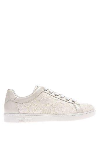 P615275D-702.Sneaker in macramè.Ivory.37