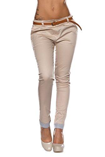 5359 Fashion4Young Damen Sexy Hose pants Stretch-Satin verfügbar in 3 Größen 4 Farben