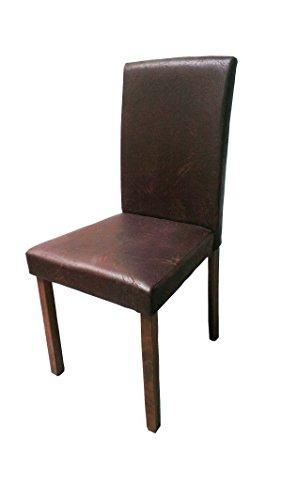 SAM-Polster-Stuhl-Billi-Esszimmer-Stuhl-in-dunkelbrauner-Antik-Optik-Stuhlbeine-nussbaumfarbig-massiver-Design-Stuhl-in-Wildlederoptik-fr-Kche-und-Esszimmer