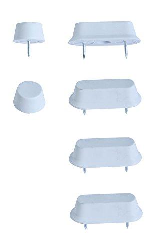 WC-Sitz-Puffer Nr. 31 | Auflagestopfen für Toilettensitz | Abstandhalter für WC-Brille | Dämpfer | Weiß | Kunststoff