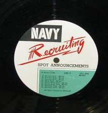 Navy Recruiting Spot Announcements 1962-3 Transcriptions. 3 12 LP set by Preston Foster, Robert Fuller, Richard Boone                              Richard Chamberlain, Sebastian Cabot, others Mike Landon and Sebastian Cabot, others Richard Chamberlain