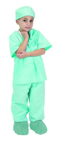 Aeromax Green Junior Doctor Scrubs (Child 8-10) front-518413
