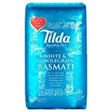 Tilda White & Wholegrain Basmati Rice 500G