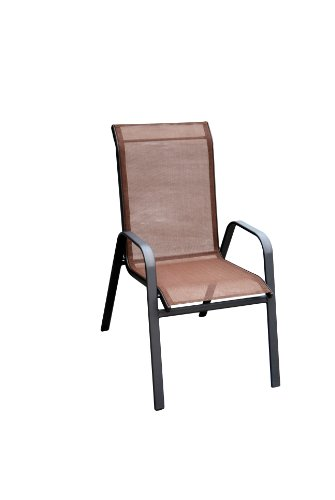 DC America 372139-DB4PK 4-Pack Fantasy Sling Chair, Dark Brown