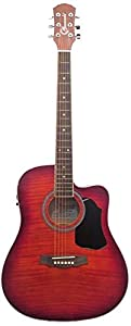 Granada PRFLD 19CEQ DLX Acoustic Guitar, Dreadnought Cutaway with Equalizer, Cherry Sunburst available at Amazon for Rs.10875