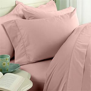 Blush Plain - Solid California King Size FOUR [4] piece Bed Sheet Set (Deep Pocket)