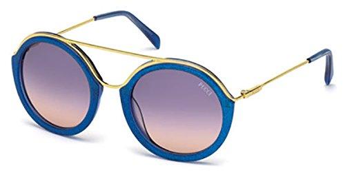 emilio-pucci-ep0013-rotondo-acetato-metallo-donna-gold-blue-violet-shaded92w-52-22-135