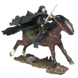 2003 - New Line / Paly Along - Lord of the Rings : Armies of Middle Earth - Aragorn on Horseback - Warriors & Battle Beasts - Battle Scale Figures - Out of Production - Limited Edition - Collectible - 1