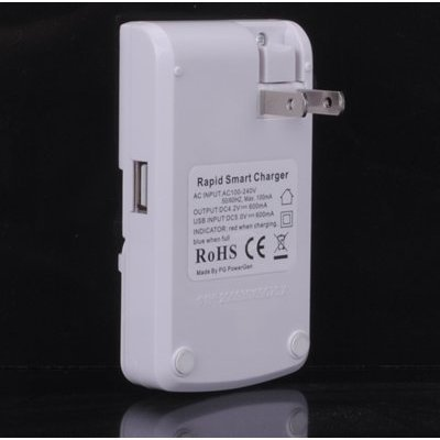 PowerGen Multi-Purpose Universal Rapid Battery Charger for Use with Motorola Atrix 4G / Droid X / Droid 2, 3 / Triumph , HTC Sensation / Thunderbolt / Inspire 4G / EVO 4G / EVO 3D, Samsung Galaxy S2, S / Epic 4G