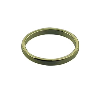 9ct Gold 2mm plain Flat Wedding Ring Sizes I to P