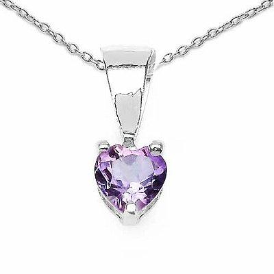 Jewelry-Schmidt-Amethyst Heart Pendant Sterling Silver-0, 33 carats
