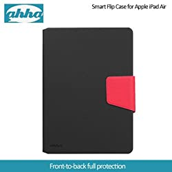 Ahha Zaki Smart Flip Case for Apple iPad Air - Black /Red (A-FPAPIPAD5-SZ19)