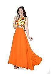 Nilkanth Enterprise Mastani Orange Gawn