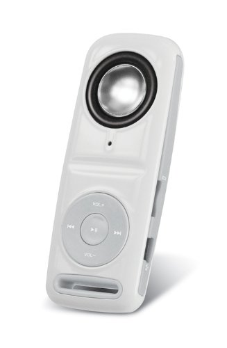 Sylvania SMP4029 4 GB MP3 Player with Built in Hi-Fi Speaker and Expandable SD Memory Slot, and Bonus Neck Strap (White)