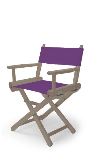 Telescope Casual Child'S Director Chair, Rustic Grey With Purple Canvas Fabric