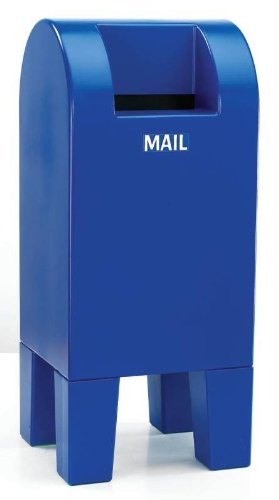 Childcraft Weather-Resistant Plastic Mailbox - 13 X 12 X 30 Inches - Blue front-989517