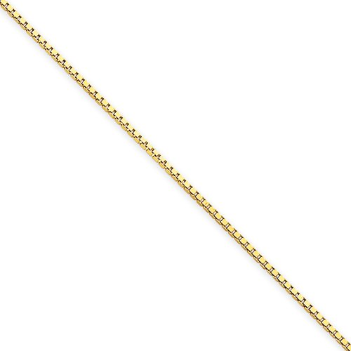 20 Inch 14k Gold 1.0mm Box Chain