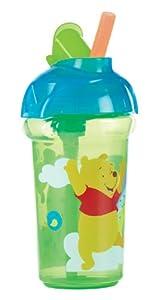 Munchkin 051356 - Vaso con cierre hermético antigoteo (266 ml), diseño de Winnie the Pooh, color azul y verde marca Munchkin