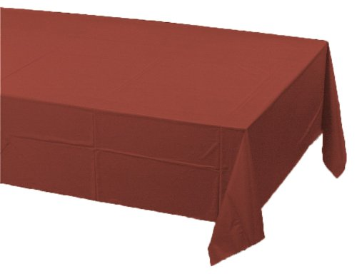 Creative Converting Plastic Banquet Table Cover, Brick front-520134