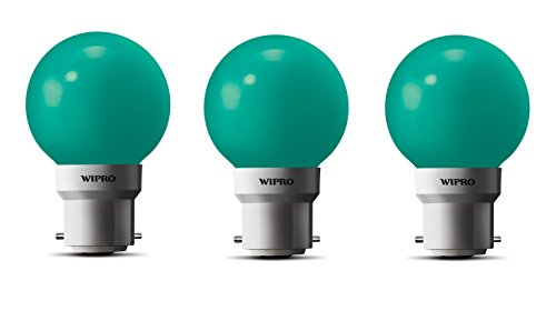 0.5W LED Bulb (Green , pack of 3)