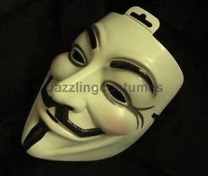 [Official V for Vendetta Guy Fawkes Mask Costume Accessories Vigilante Licensed] (Batman Costume Vigilante)