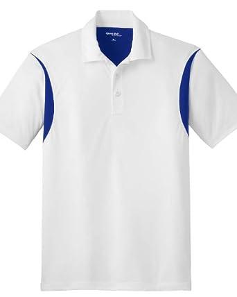 Sport-Tek Men/'s Taped Neck Moisture Wicking Double Needle Polo Shirt ST656