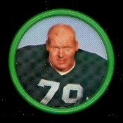 1962 Salada Tea Coins (Football) Card# 17 Dave Hanner Of The Green Bay Packers Nrmt Condition