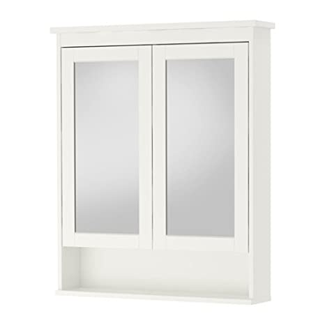 High Quality HEMNES Mirror cabinet with 2 doors, white