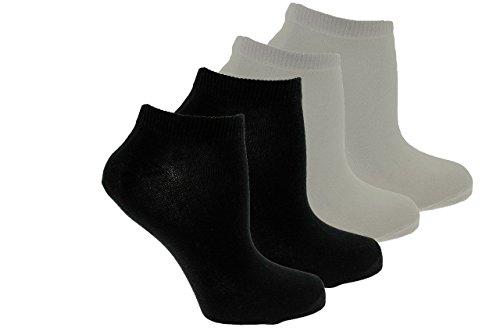 12106521jack&jones confezione 4 calze a scomparsa alte (2 bianche e 2 nere)