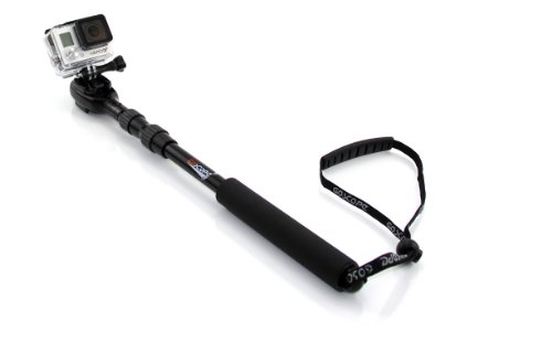 """GoScope Extreme - GoPro® HERO4 Telescoping Pole / Monopod: Expands 17"""" out to 37"""""""