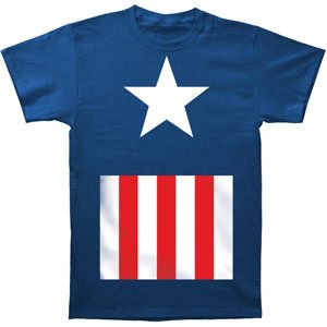 Captain America Suit Fitted Royal Blue Adult T-Shirt Tee