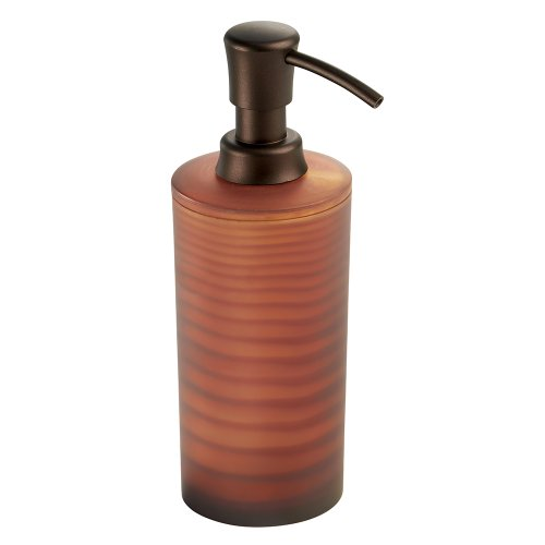 Interdesign Lotus Soap Lotion Dispenser For Kitchen Or Bathroom Countertops Frost Brown