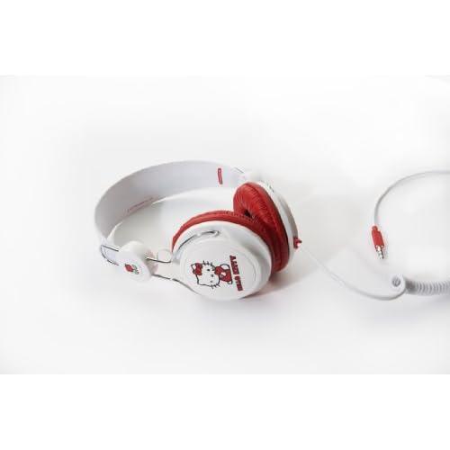 Hello Kitty ハロー キティー Headphone White and Redの写真01。おしゃれなヘッドホンをおすすめ-HEADMAN(ヘッドマン)-