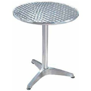 Table ronde bistrot aluminium diam 60 cm - Table ronde aluminium ...