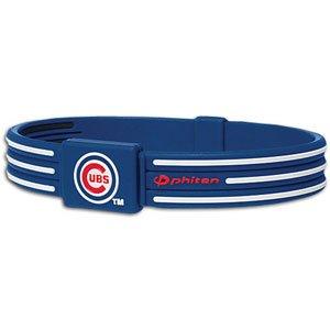 Cubs Phiten Titanium Bracelet X30 ( sz. L, Chicago Cubs : Cubs )